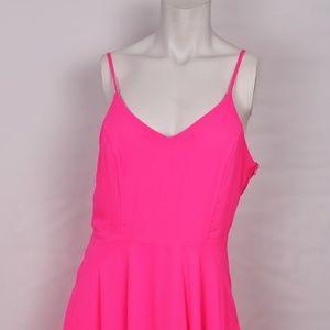 Lush Hot Pink Strappy Sexy Tank Dress (L)